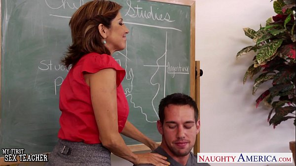 Stockinged teacher Tara Holiday fuck her young student