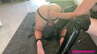 submissive ass fucked by his mistress