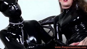 Latex lesbians playing a perverted game