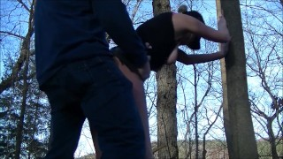 Hottest Doggystyle Fuck in Park & Woods