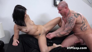 Submissive Slut Takes Piss In Mouth